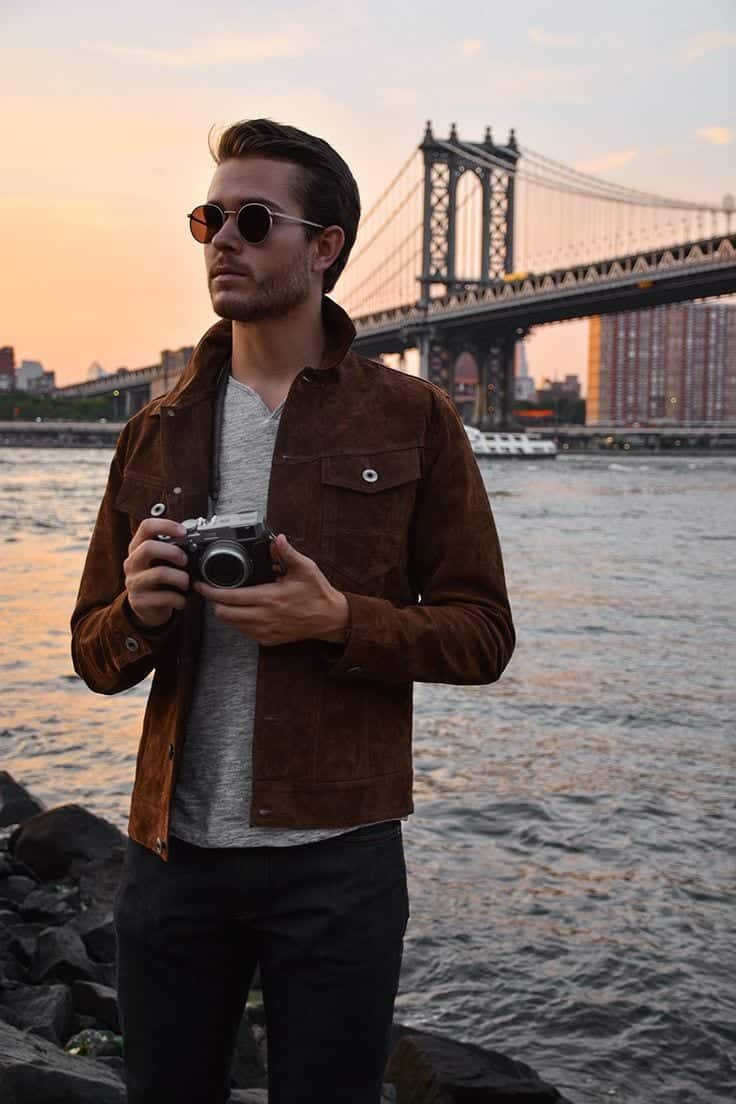 Suede Jacket Outfits For Men 20 Ways To Wear A Suede Jacket