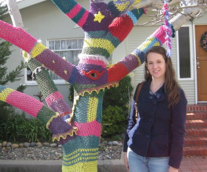 "The Sweater Tree. Yes, this is what ""winter weather"" looks like in Santa Cruz."