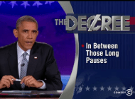 President Obama Replaces Stephen Colbert on Colbert Report
