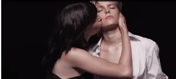 Androgynous Model Hot Men Lesbian Kiss Tom Fords Lips And Boys