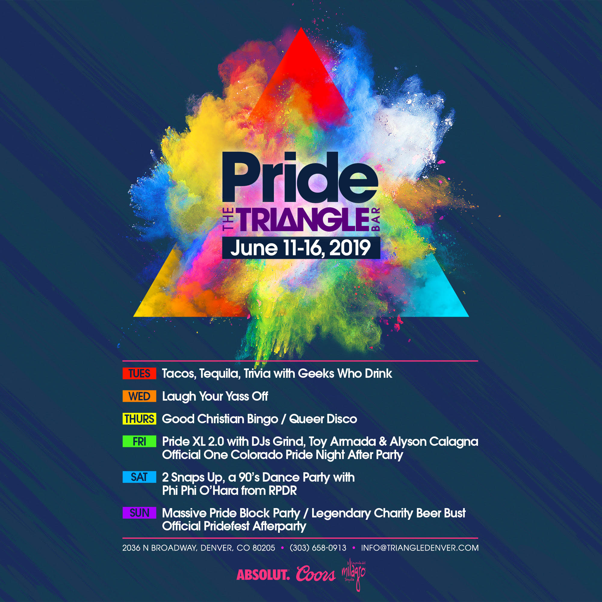 The Triangle Bar Pride 2019 Lineup + Exclusive VIP Promo Code