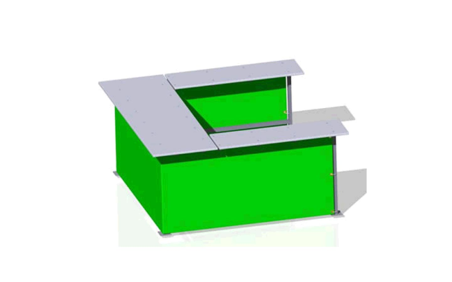 Cashier Desk 66 Ushaped  OutFront Portable Solutions
