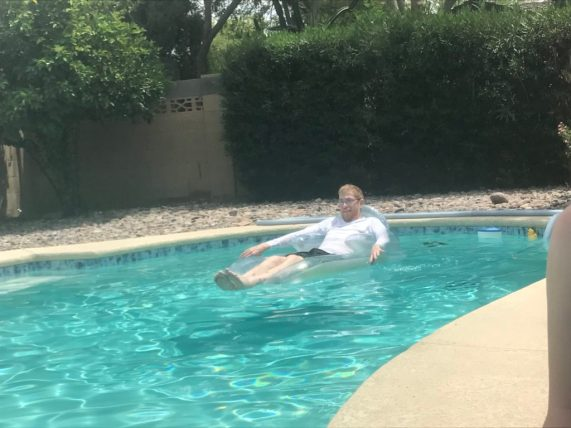 Memorial Day in Phoenix and Ian got in a little floating.