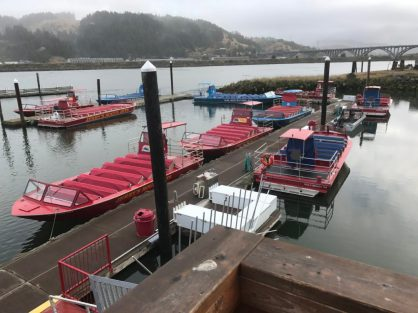 Jerry's Rogue River jet boats at Gold Beach OR