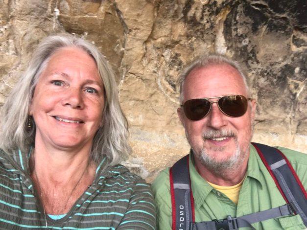 Joyce & Bruce at Long House, Mesa Verde National Park