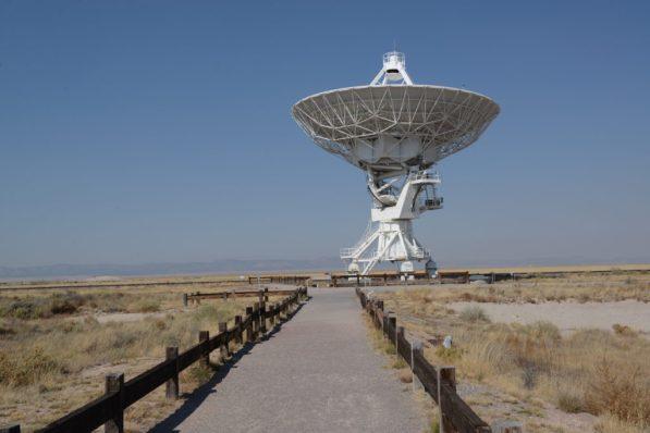 An antennae up close VLA