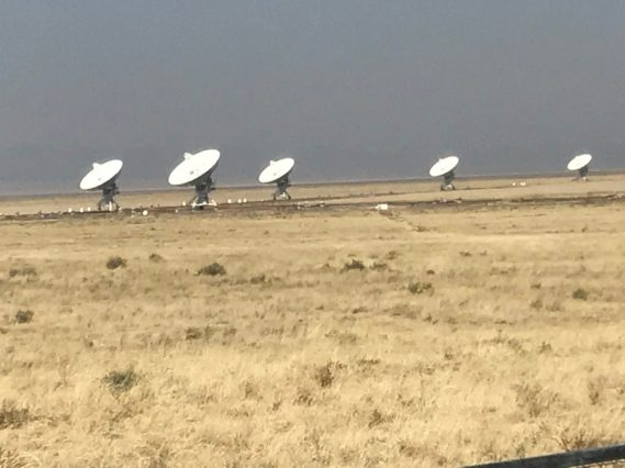 VLA - eerie scene with wind whipping around could hardly keep my hair out of the shot