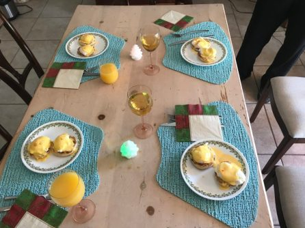 We made Eggs Benedict New Year's Day