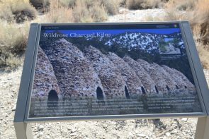 Wildrose Charcoal Kilns sign