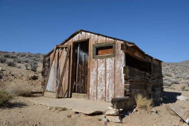 A ghost town building