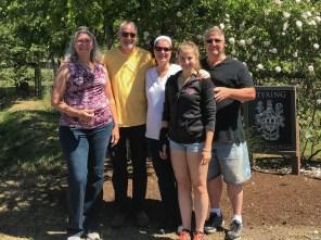 A group farewell photo Joyce & Bruce with Kelley, Gillian & Steve Styring