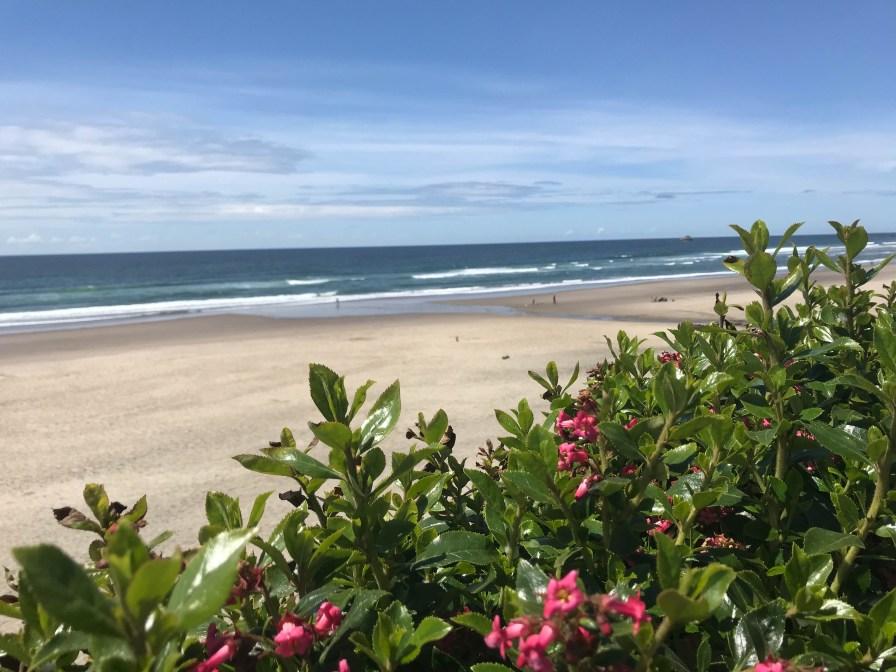 A peek at the beach near Lincoln City, Oregon