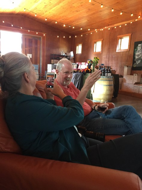 Bruce telling a story at Styring Vineyards