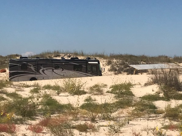 Our site in the sand dunes