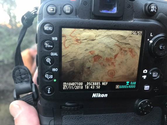 Someone shared their photo of the drawings under the hollow rock