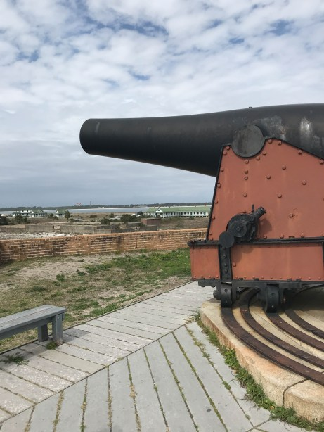 Cannon on top of the tower at Fort Pickens Gulf Islands NS