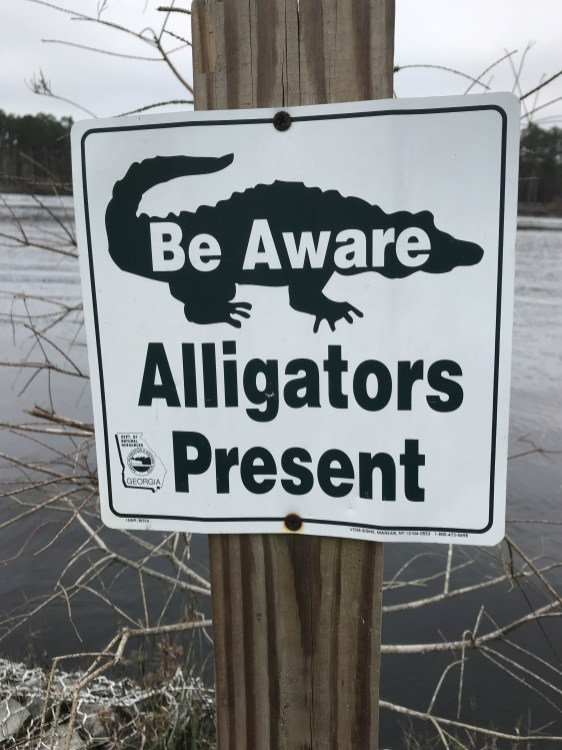 Sign in Laura S. Walker State Park in Georgia