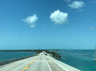 Water surrounds us on US 1 Florida Keys
