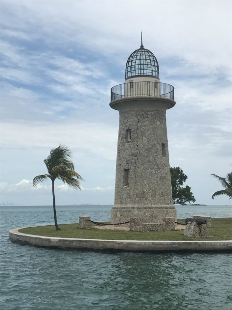 The tower at the mouth of the marina on Boca Chita Key