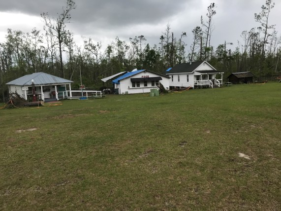 Pioneer Village at Blounston has tarps on nearly every roof from October's Hurricane Irma. Another wave of rain is coming in