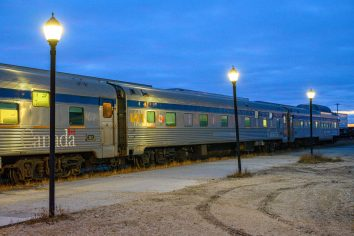 Train at the Churchill MB Station Photo: Bruce Maxwell