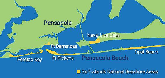 Gulf Islands NS areas - credit: visitpensacola.com