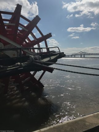The paddlewheel on the Steamboat Natchez, New Orleans