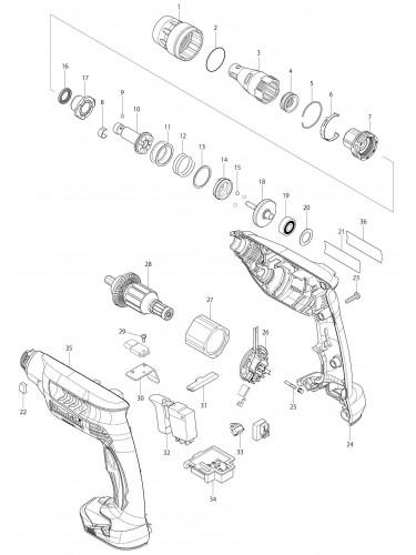 Pieces Detachees Perceuse Visseuse Makita Df 330 D