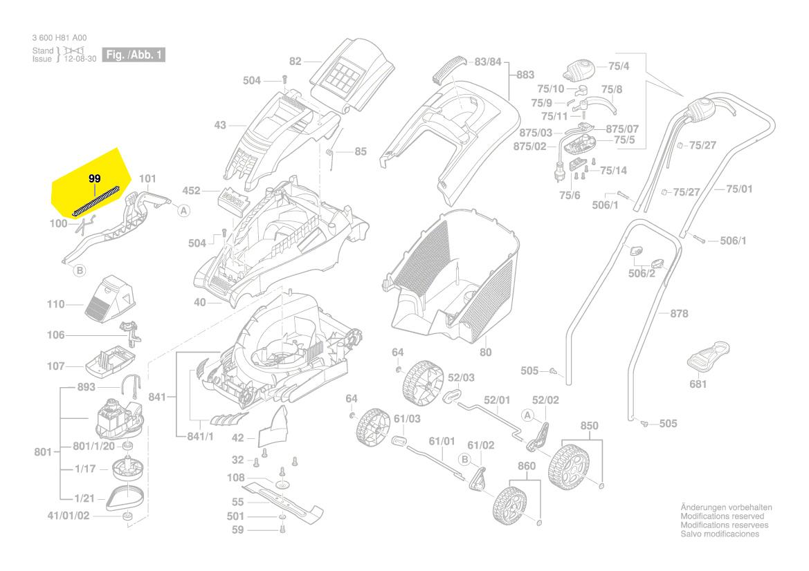 Ressort Reglage Hauteur Rotak 34 36 37 40 43 Arm 32 Bosch