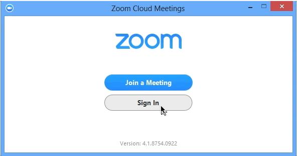 Zoom connexion