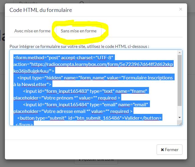 LearnyMail - Exporter sans mise en forme