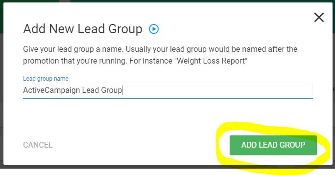 ThriveLeads - Creation Lead Group