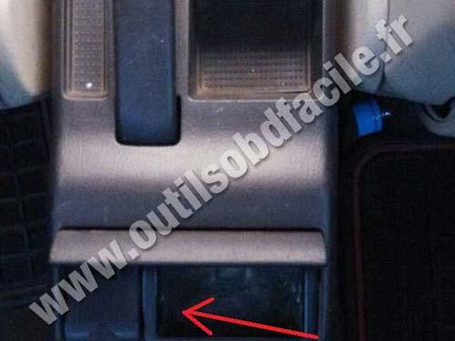 OBD2 connector location in Audi A4 B5 1994  2001