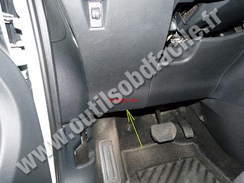 2006 Honda Cr V Fuse Diagram Obd2 Connector Location In Citroen C3 Picasso 2008 2012