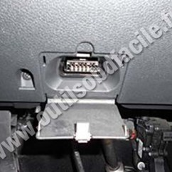 Ford Transit Wiring Diagram 2005 Usb To Rs232 Pinout Obd2 Connector Location In Fusion (2002 - 2005) Outils Obd Facile