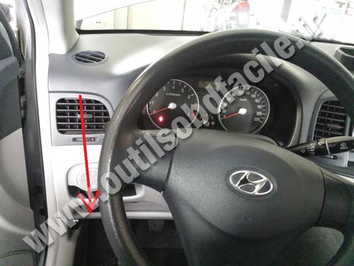 hyundai atos ecu wiring diagram wind turbine how it works obd2 connector location in accent 2006 2011 outils obd dashboard