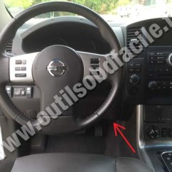 Nissan X Trail Wiring Diagram Triumph Obd2 Connector Location In Navara/frontier D40 (2004 - 2010) Outils Obd Facile