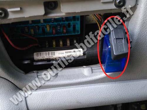 2006 Chevy Express Van Wiring Diagram Einbauort Der Obd2 Stecker In Renault Scenic 1996 2003