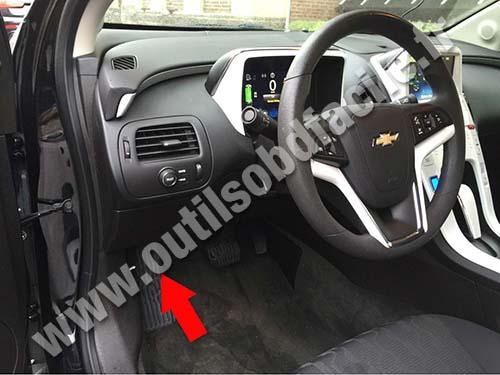 2012 Explorer Fuse Box Location Prise Obd2 Dans Les Chevrolet Volt 2010 2015 Outils