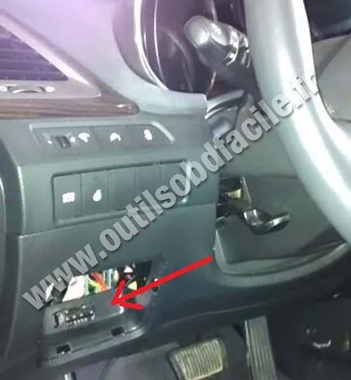 2003 Hyundai Santa Fe Fuse Diagram Prise Obd2 Pour Les Hyundai Santa Fe 3 Phase 1 2013 2015
