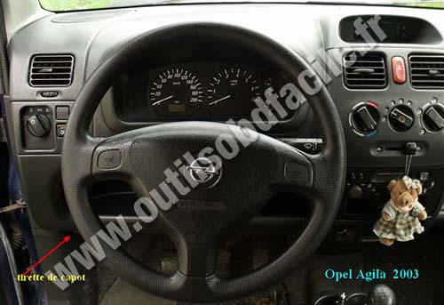 2005 Vauxhall Tigra Fuse Box Location Prise Obd2 Dans Les Opel Agila A 2000 2008 Outils