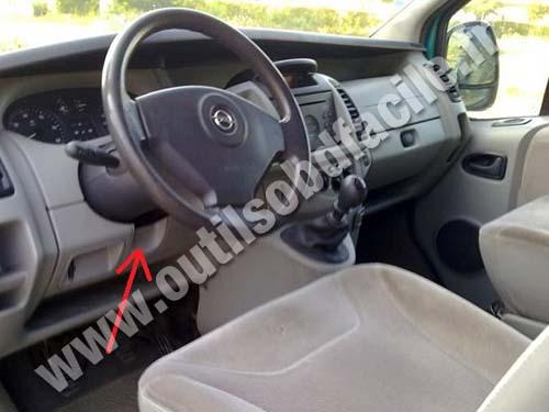 2010 Ford Transit Connect Fuse Diagram Prise Obd2 Dans Les Opel Vivaro 2001 2006 Outils Obd