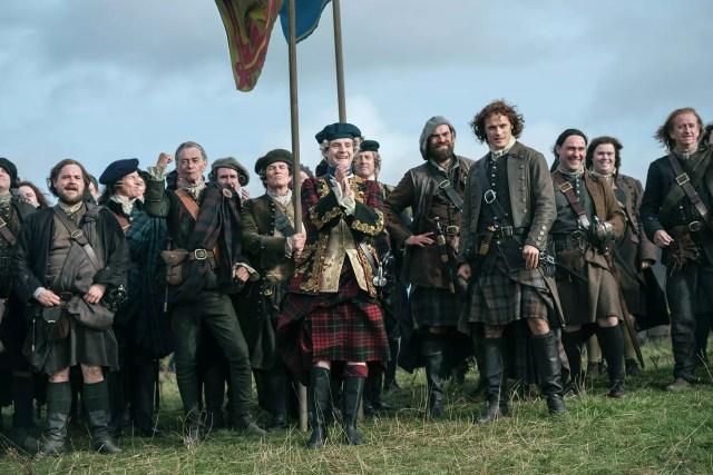 Andrew Gower (Prince Charles Stuart) Duncan Lacroix (Murtagh Fitzgibbons) Sam Heughan (Jamie Fraser)