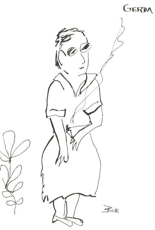 Gerda Penfold | Illustration by Charles Bukowski