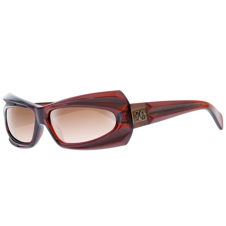 John Galliano Damen Sonnenbrille Vintage Brille Braun