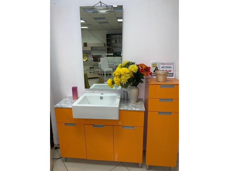 Mobile per la sala da bagno Eurobagni Kronos arancio a prezzo Outlet