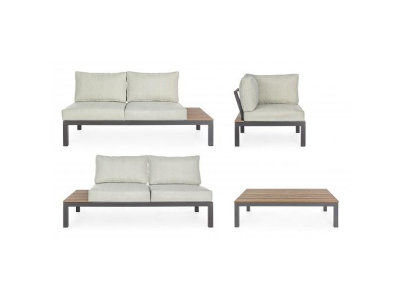 Salotto elias angolare antracite Bizzotto divano da giardino in Offerta Outlet