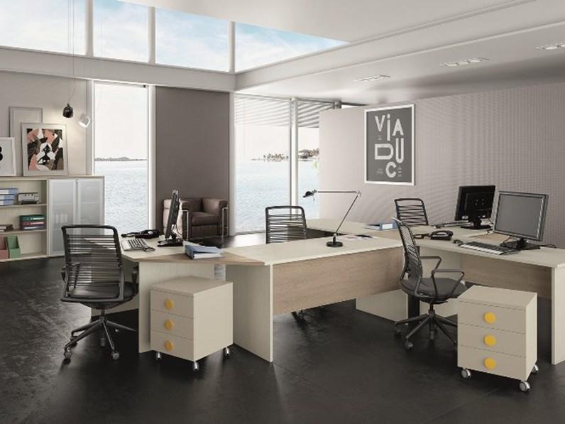 Laccato bianco mobili per ufficio. Arredamento Per Ufficio Scrivanie Angolari E Mobili Della San Martino Mobili