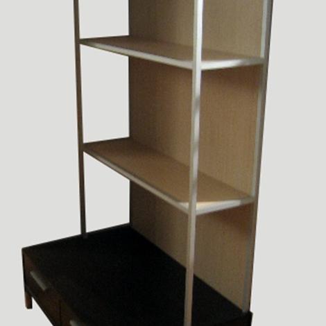 Libreria con cassetti  alluminio e rovere  DOIMO CITYLINE  Arredo Ufficio a prezzi scontati