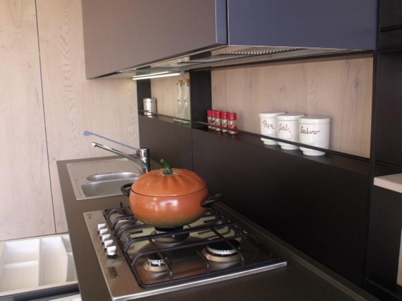 Aran Cucine Cucina Lab13 Design Legno Rovere chiaro